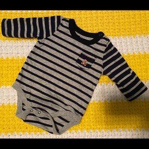 0-3M Baby Gap Long Sleeve Striped Onesie